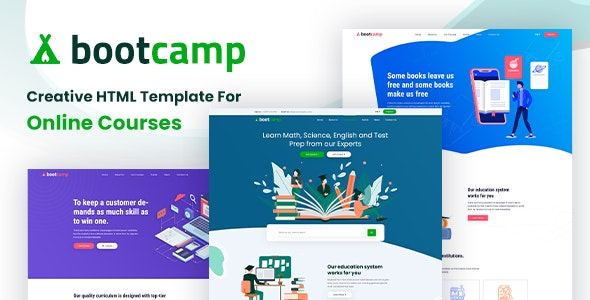 Bootcamp - Online Courses and Educational Site Template Free Download Nulled