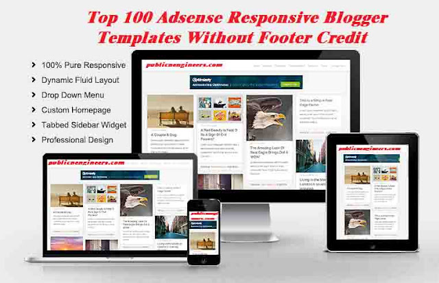 Adsense Responsive Blogger Templates Without Footer Credit