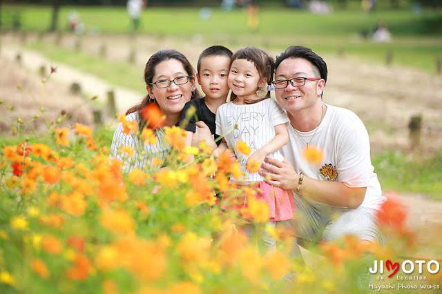 家族写真をロケーション撮影
