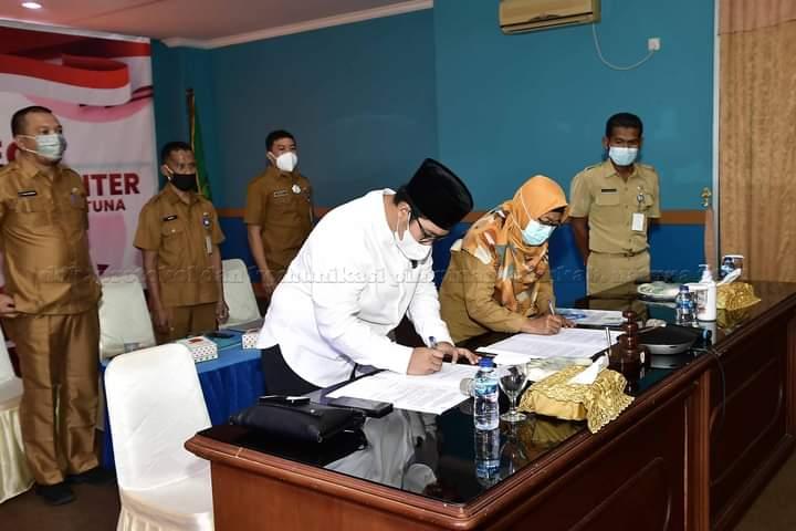 Wabup Natuna Menghadiri Penyerahan Laporan Hasil Pemeriksaan Oleh BPK RI Perwakilan Kepri