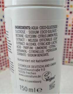 cosnature naturalna pianka oczyszczająca z cytryną i melisą