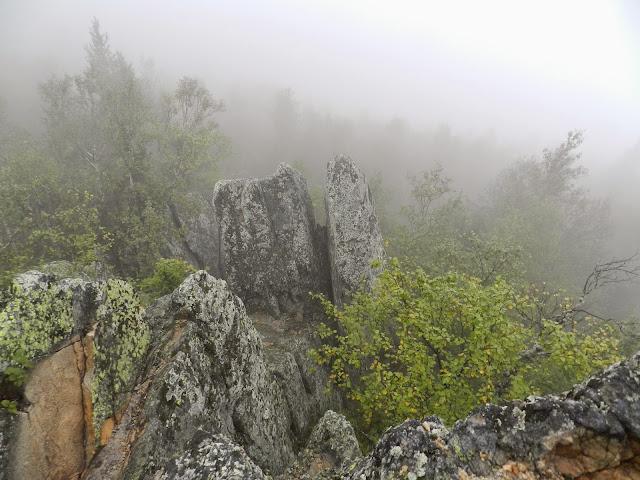 Национальный парк Таганай Двуглавая сопка в тумане