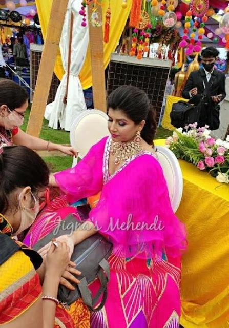Nikitha Reddy at Shalini's Mehendi Function