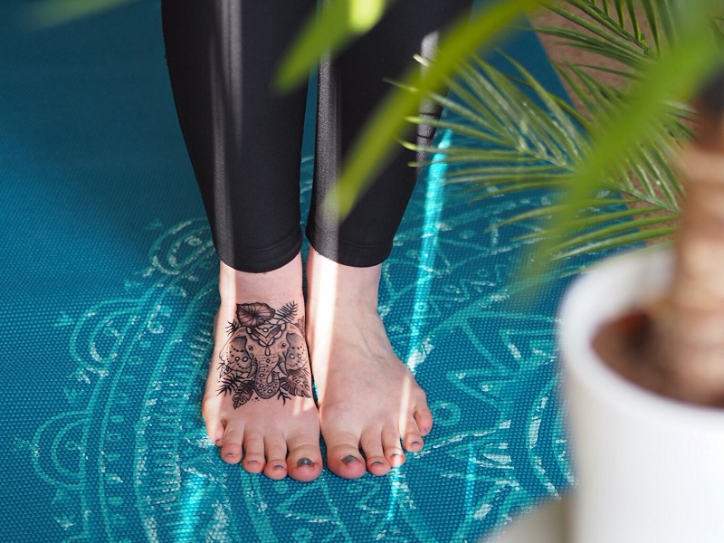 elephant tattoo on my foot