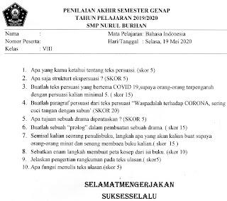 SOAL BAHASA INDONESIA Kelas VIII - PAS Semester Genap ...