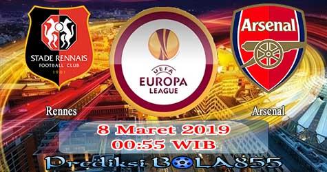Prediksi Bola855 Rennes vs Arsenal 8 Maret 2019