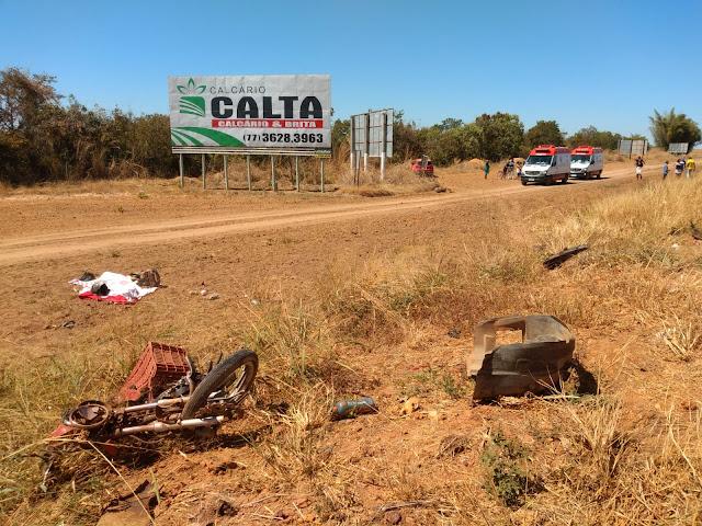 LEM-BA: Acidente grave deixa uma vítima fatal na entrada do Povoado Novo Paraná