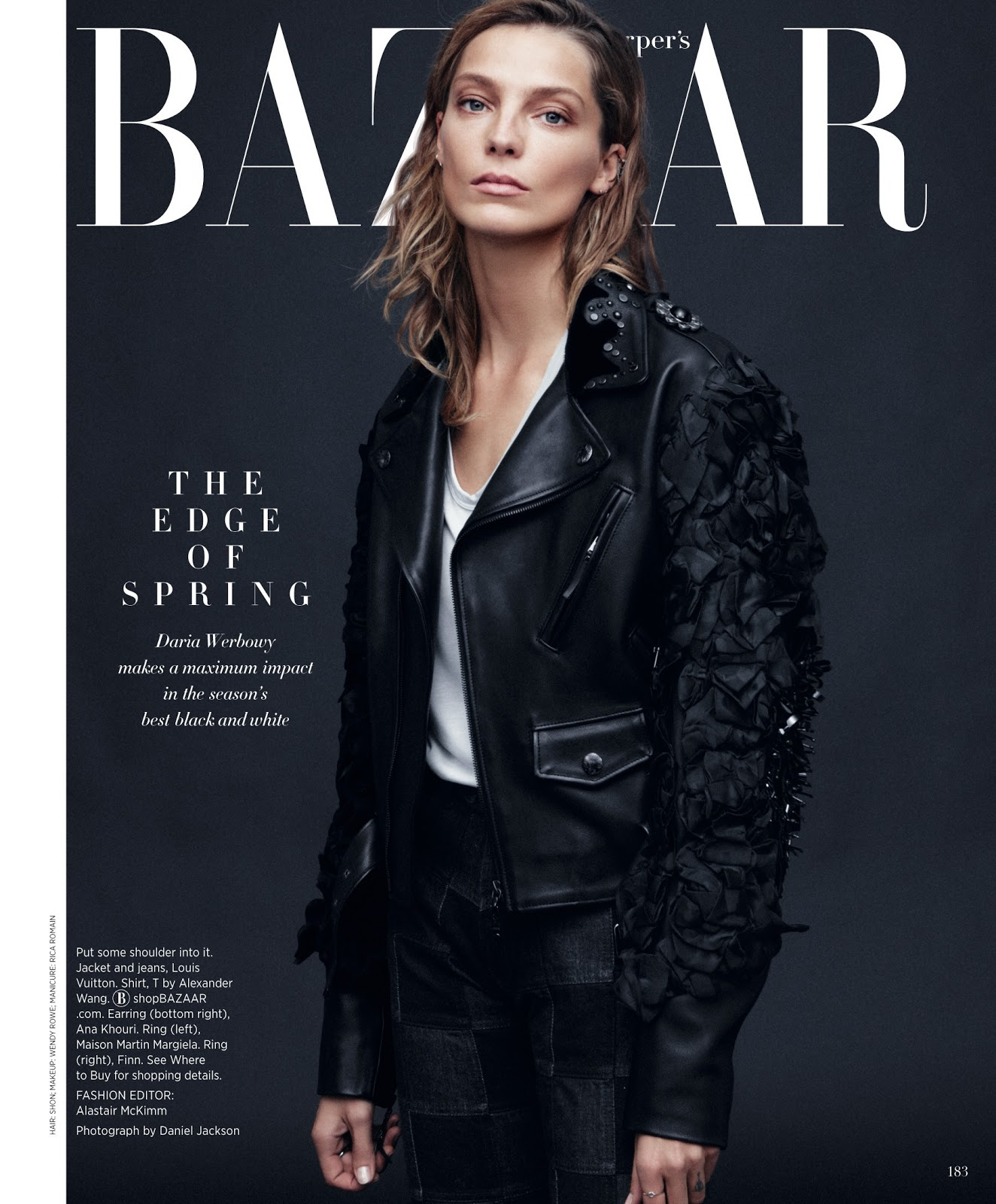Daria Fashion: The Face Of Beauty Now: Daria Werbowy By Daniel Jackson