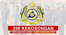 399 Kekosongan Jawatan Terkini Dibuka Jabatan Kastam Diraja Malaysia ~ Minima STPM Layak Memohon!