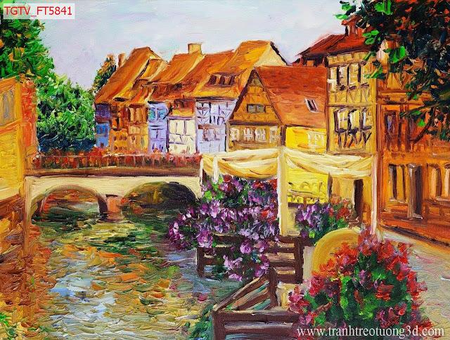 Tranh Canvas Nhà Cửa