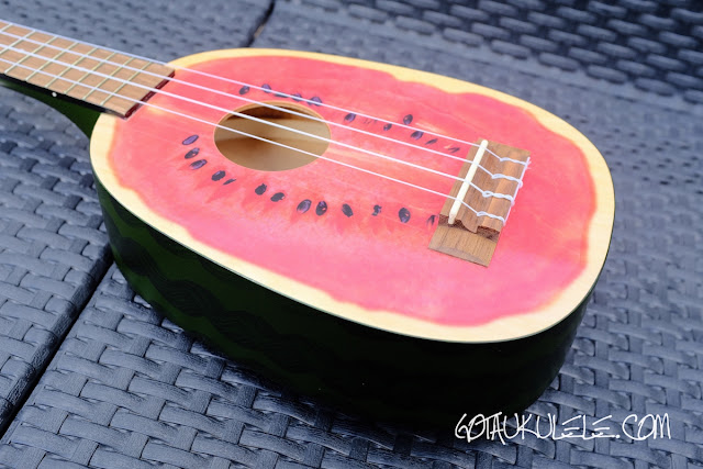 Kala Novely Watermelon Soprano Ukulele body