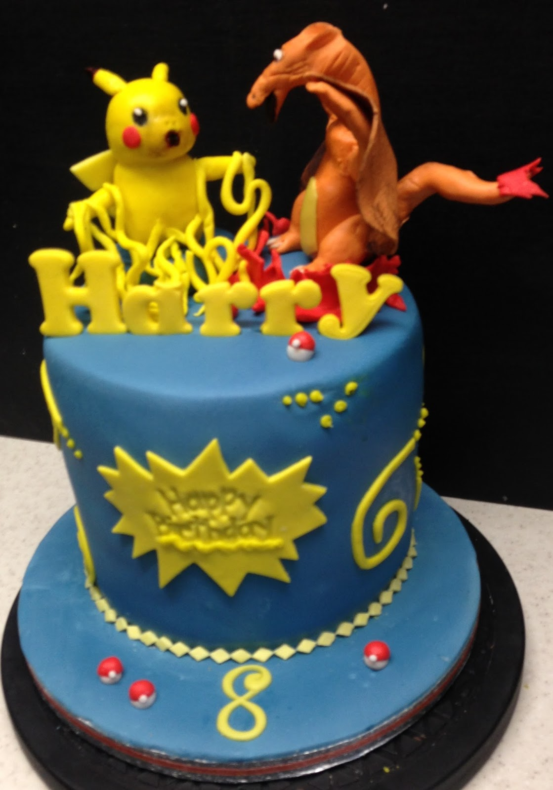 Poppyfield Card Crafts Happy Birthday Harry Card And Cake