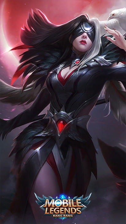 Wallpaper Pharsa Wings of Vengeance Skin Mobile Legends HD for Android and iOS