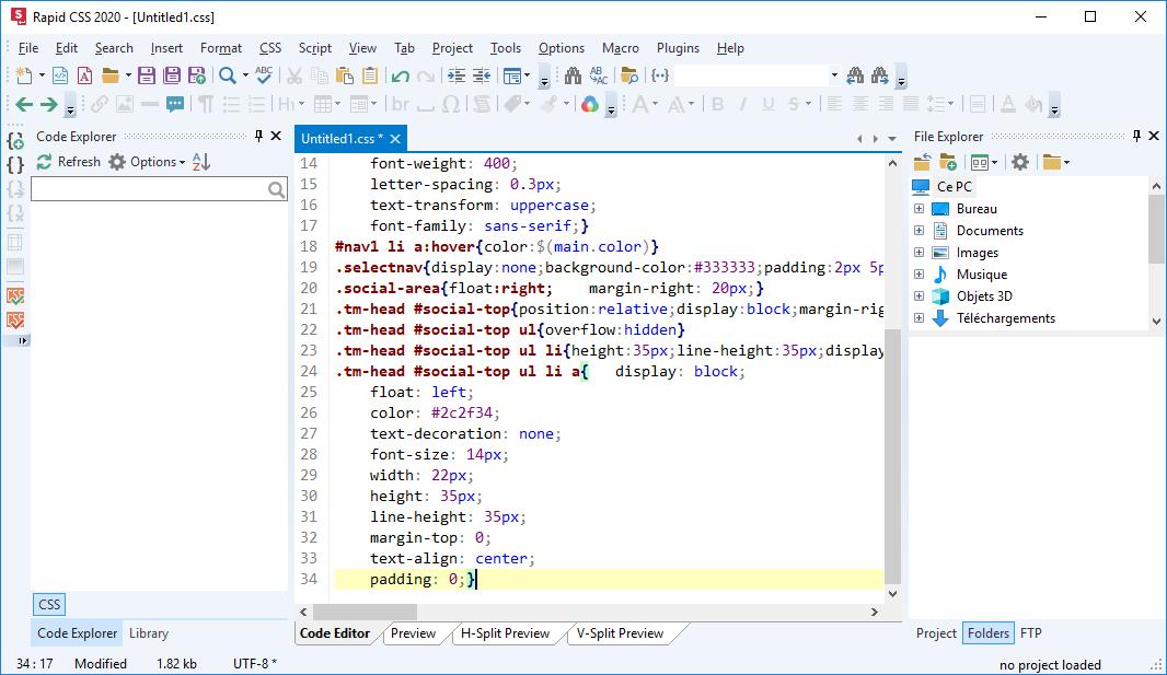 تحميل برنامج محرر كود يساعد مطوري الويب في جعل أعمالهم أكثر بساطة Blumentals Rapid CSS 2020