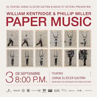 """PAPER MUSIC y """"Un cine concierto de William Kentridge"""" en Bogotá"""
