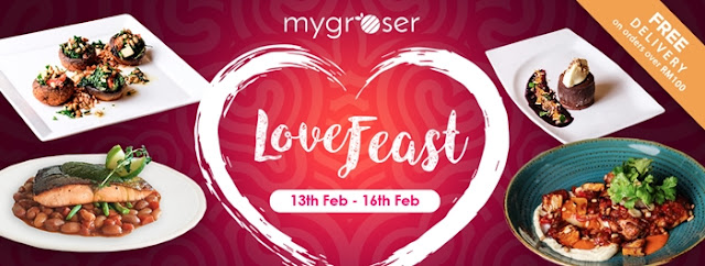 Valentine's Day with MyGroser's Love Feast Menu, MyGroser, Valentine's Day, Love Feast, MyGroser Love Feast, Love Feast Menu, Food