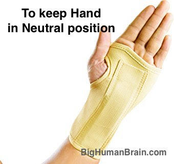 Wrist splint helps in keeping the wrist in neutral position and thus improves the blood circulation and prevent venous stasis. This reduces the pain in CTS.