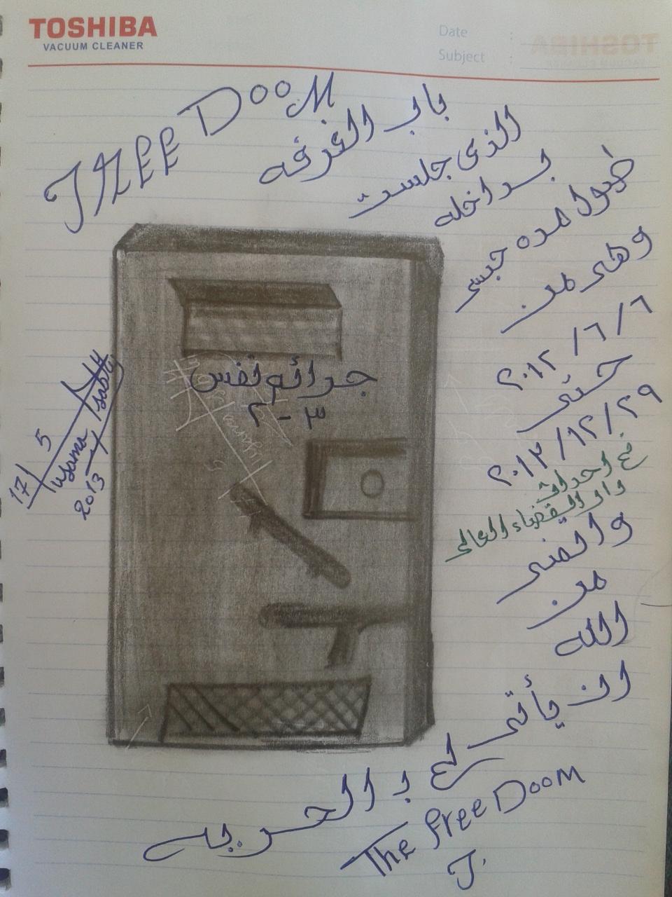 20e4a2ab766d9 أرشيف الإنتاج الإبداعي داخل أماكن الاحتجاز في مصر، منذ عام 2011 حتى 25  أغسطس 2015 - دفتر أحوال DaftarAhwal