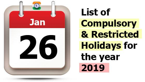central-government-holidays-2019