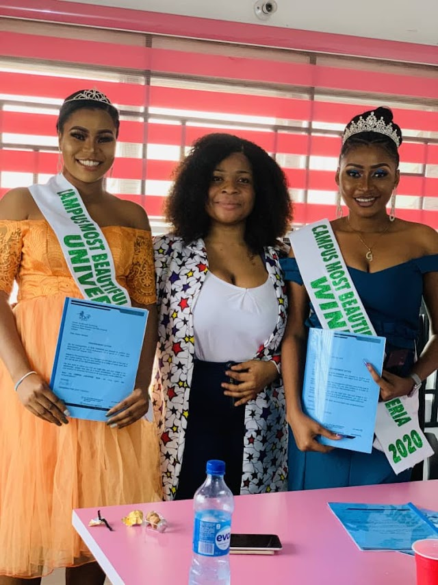 GIST: Campus Most Beautiful Girl Nigeria 2020 Bags endorsement deal with Zoe Fashion.