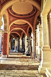 Old arcade in Vienna central cemetery