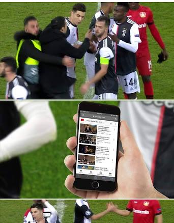 Grappige selfie met Ronaldo fan laat hem zien dat Messi De Ballon d'Or  gewonnen heeft
