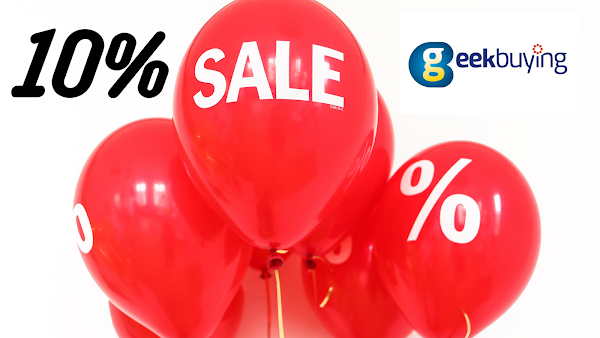 Cupão Black Friday na Geekbuying dá-te 10% de desconto em todo o site!