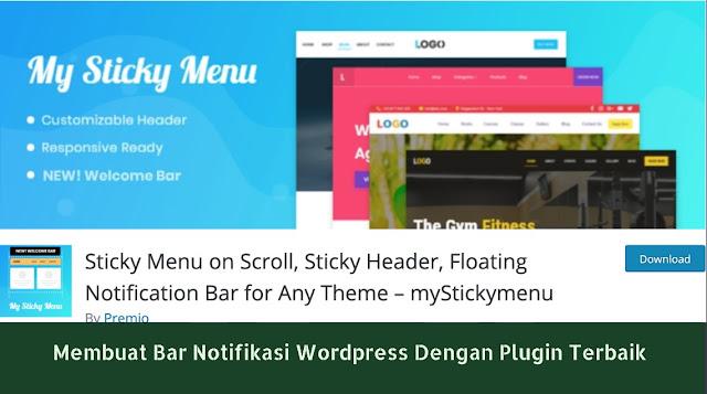 Membuat Bar Notifikasi Wordpress Dengan Plugin Terbaik