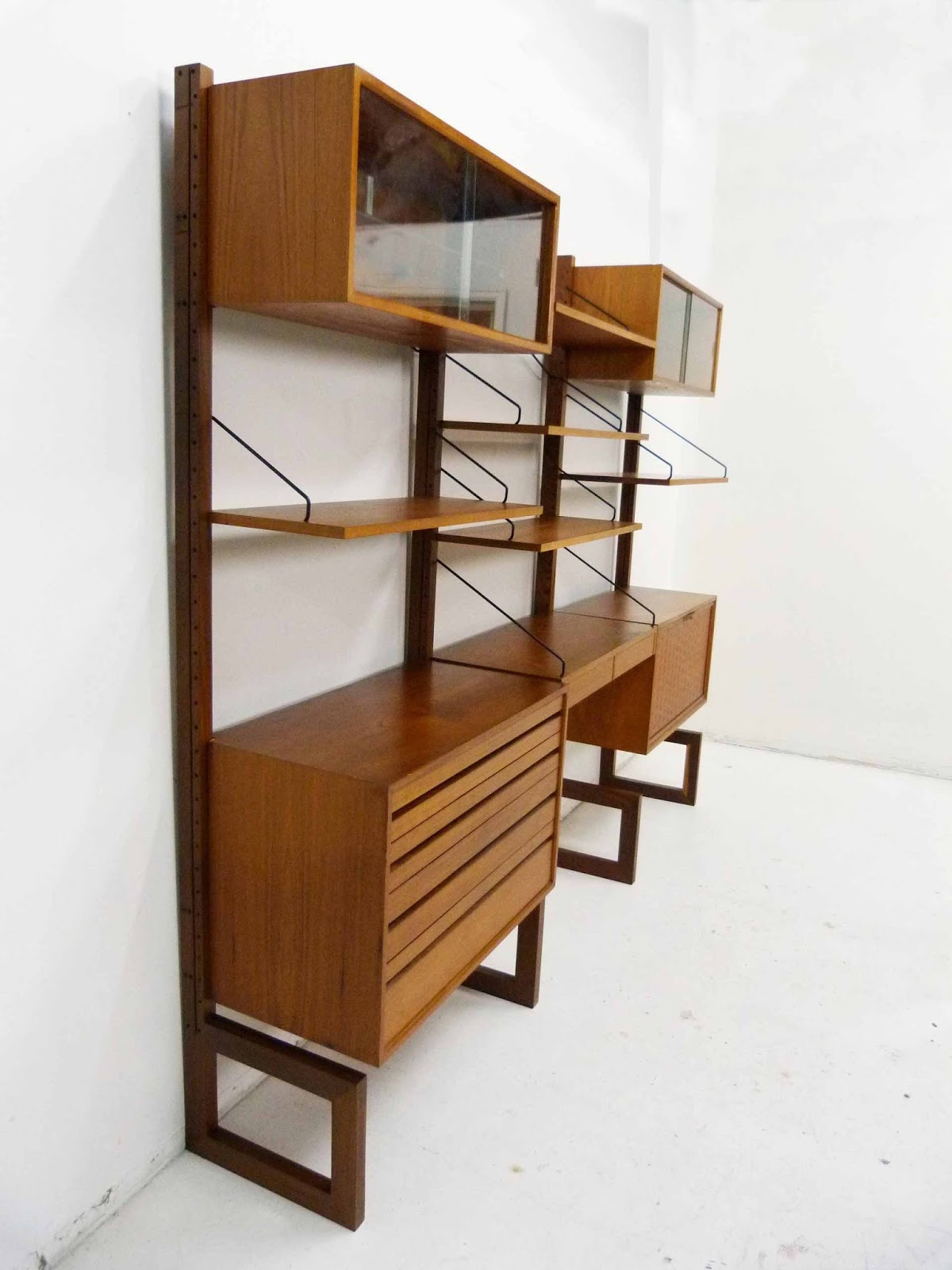 Poul Cadovius For Cado Royal System Danish ModernTeak Wall Unit 3