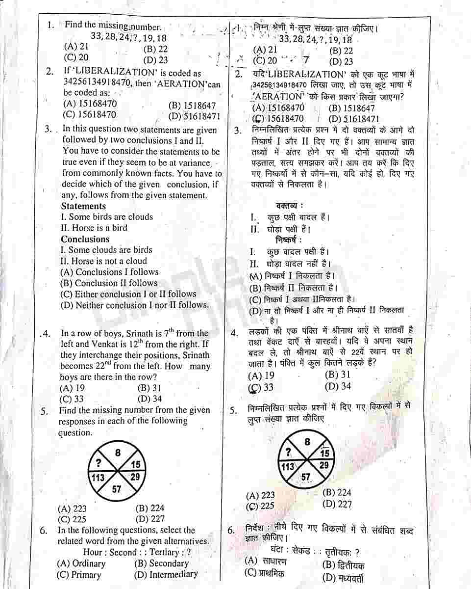 Haryana Police Today Morning Shift Paper