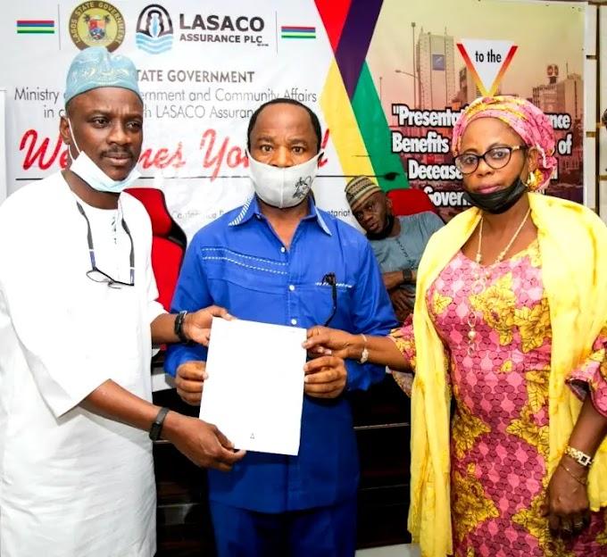Lagos govt pays LG, SUBEB staff deceased's families N364.9M