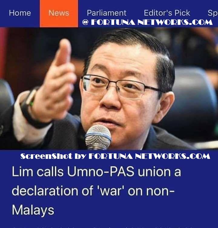 """Inilah V-turn Terbaru Lim Guan Eng""""Perang"""" Tak Jadi,!"""