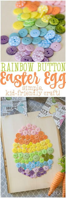 easter, crafts, kids, button crafts, easter egg crafts