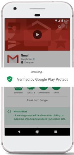 Google Play Protect sẻ an toàn tuyệt đối cho người dùng