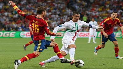 منتخب إسبانيا ضد البرتغال