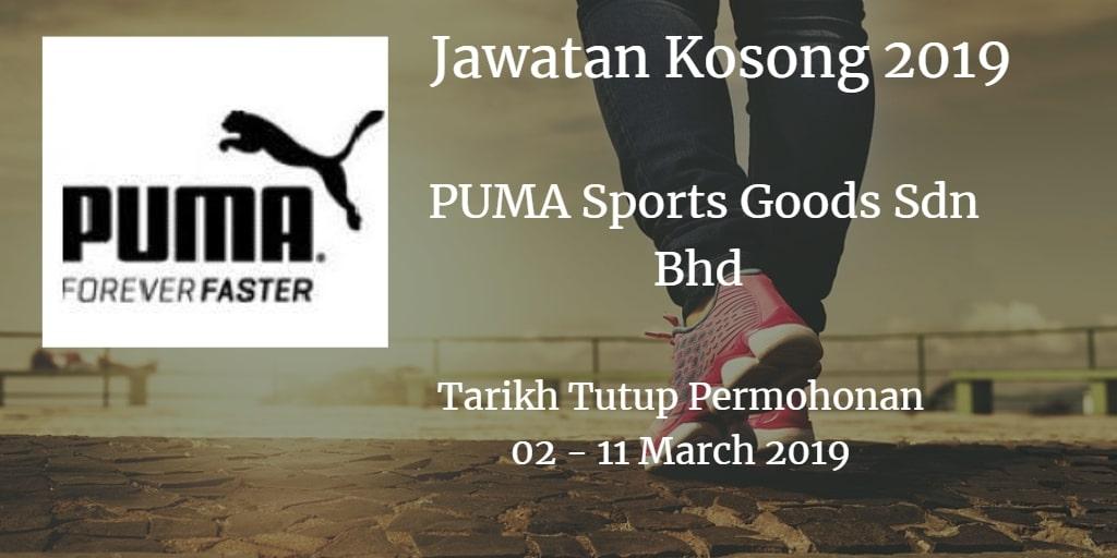 Jawatan Kosong PUMA Sports Goods Sdn Bhd 02 - 11 March 2019