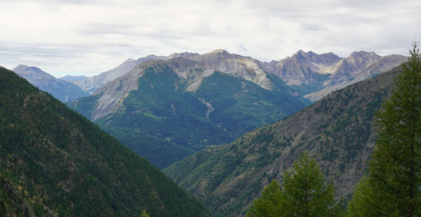 View to west from Vallon de Vens