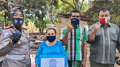 Hari Lalu Lintas Bhayangkara Ke - 65, Satlantas Polres Situbondo Bagikan 2.200.000 Masker