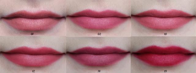 Golden Rose Mini Velvet Matte odcienie na ustach