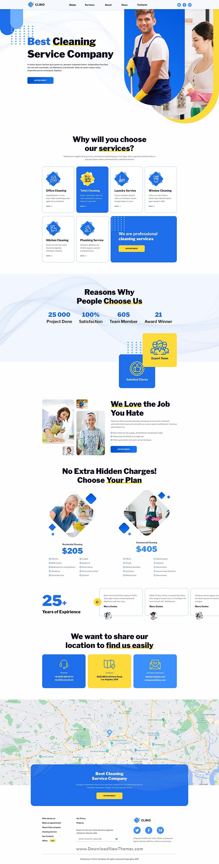 Cleaning Services Figma Template