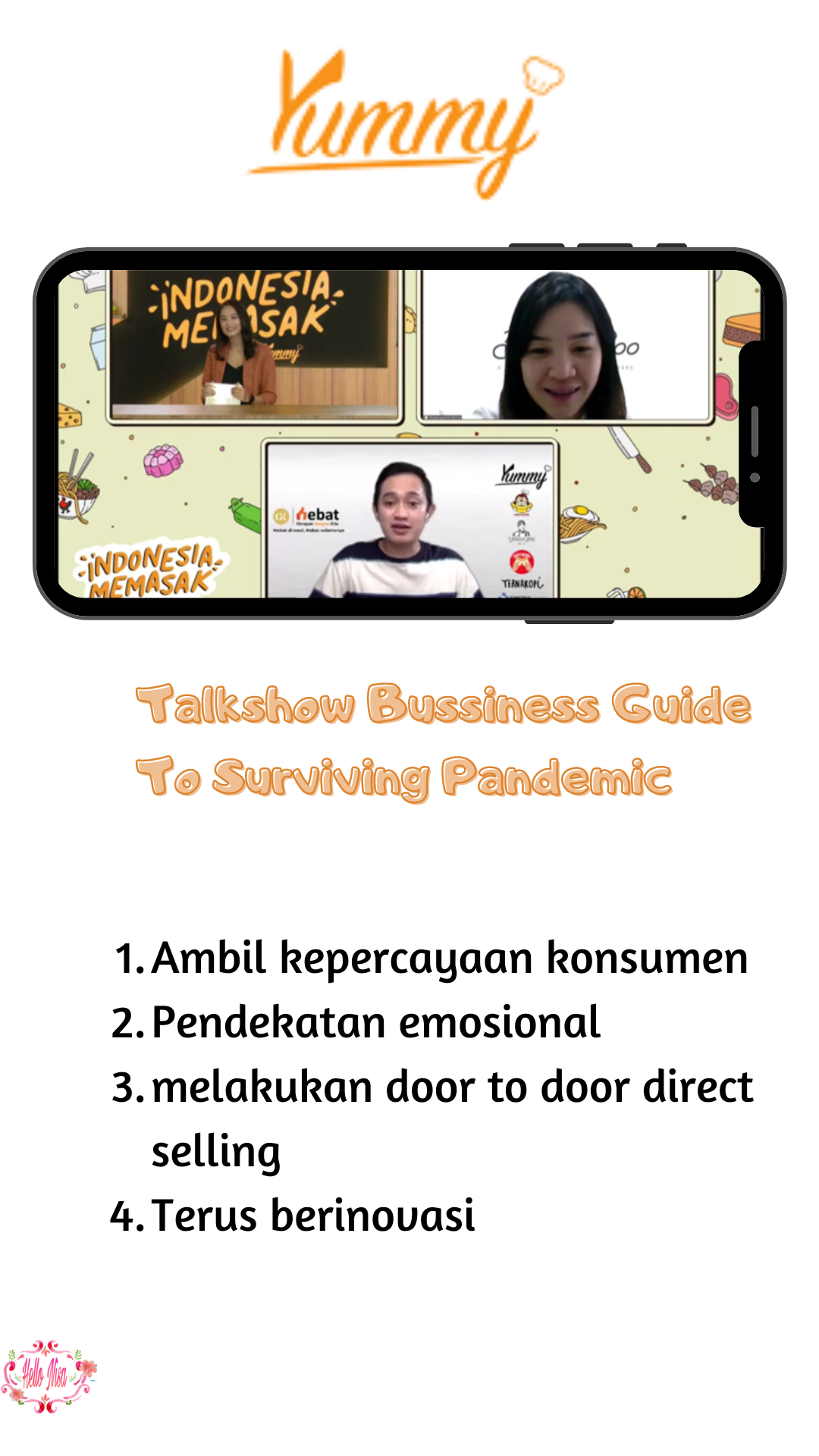 talkshow indonesia memasak by yummy app