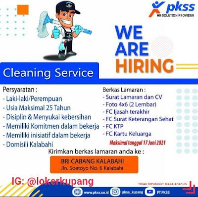 Lowongan Kerja BRI Cabang Kalabahi Sebagai Cleaning Service