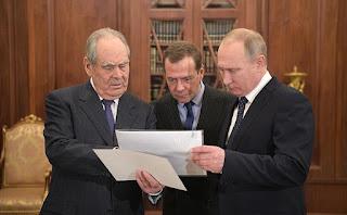 Vladimir Putin, Dmitry Medvedev, Mintimer Shaimiyev.