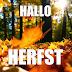 Herfst wallpaper met tekst hallo herfst