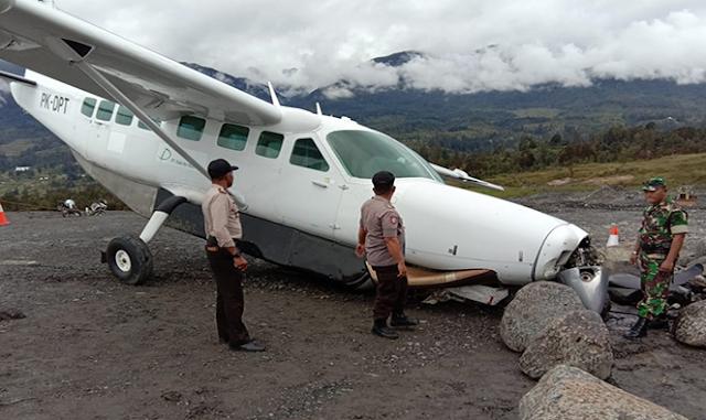 Ini Penyebab Pesawat Caravan Dabi Air Tergelincir