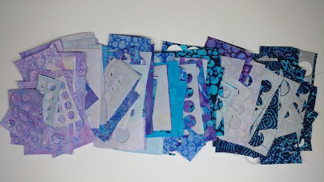 Blue Sea fabric scraps