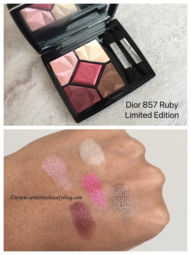 Dior 857 Ruby limited edition swatches dark skin