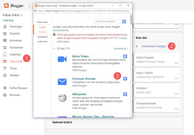 Cara Membuat Contact Form (Contact Us) Keren di Blogspot - Cara Menambahkan Widget Formulir Kontak di Blogger