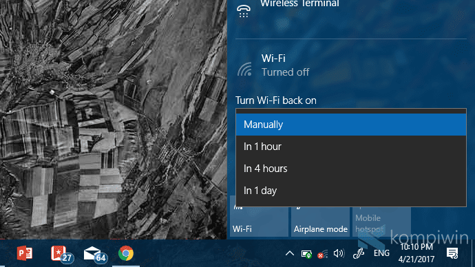 cara menyalakan wifi secara otomatis