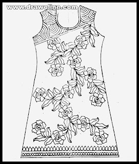 pencil sketches of salwar kameez,embroidery kameez design sketch image,embroidery kameez design drawing